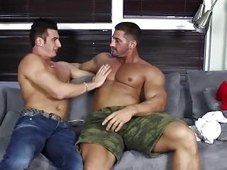 Hung Bodybuilders Mario Torrez and Christian Power Having a Hot Fuck