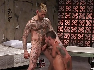 David Benjamin and Logan McCree fuck the brains out of each other