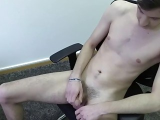 Scout measures this guy's dick before watching him jerk off