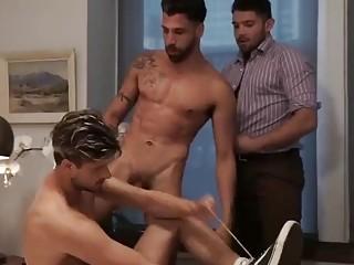 Arab hotties take turns fucking this pretty French guy