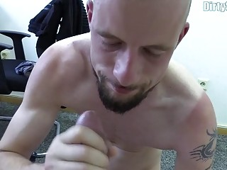 Bribed in interview gay hunk gets fucked in 1080p