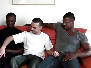 Tyrese, Aron and Jhonathan have gay interracial threesome