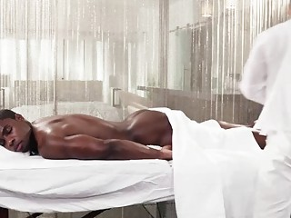 Ebony prince has his body worshipped before sex