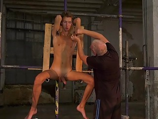Young sub gets off on having his body punished
