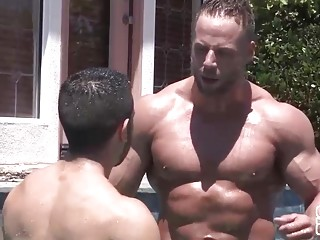 Naughty neighbors Manny and Jack have an afternoon fuck