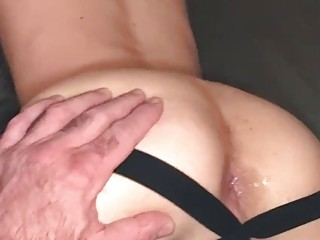 Billy Santoro dumping cum into this young bitch's hole