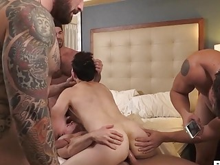 Bound homo slut becomes their plaything