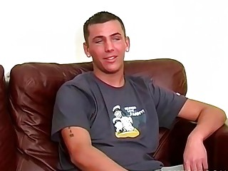 Hot British jock jerks off while moaning