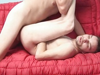 Horny dude ends massive gay anal with facial