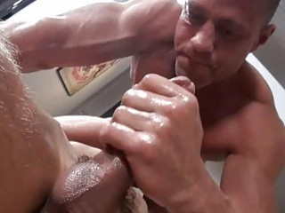 Stud gets fucked after an arousing gay massage