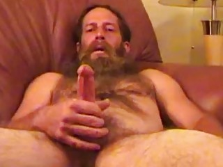 Homeless guy makes a few bucks by jerking his rod for this video