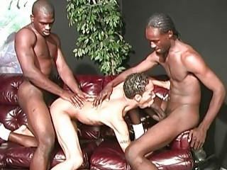 Latino finds himself in between two black dongs