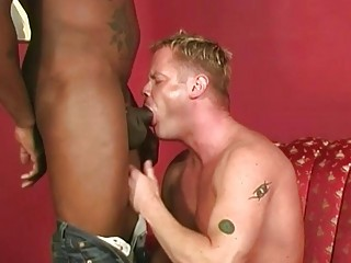 White guy gets black cock at a job interview