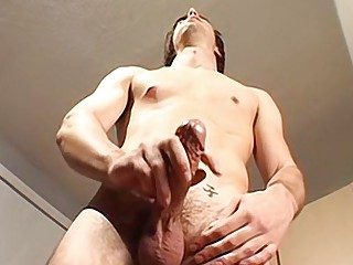 Focus on his feet while he jerks his pole