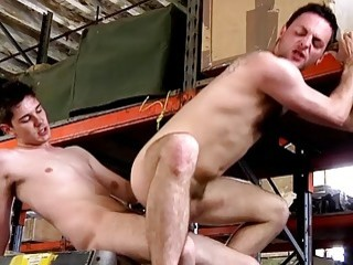 Tattooed stud ravaged by a twink after they enjoy blowjobs