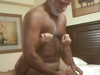 Horny gray daddies fuck hard in the bedroom