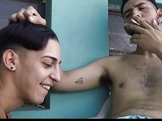 Latino boy smoking gay hung studs and fucking