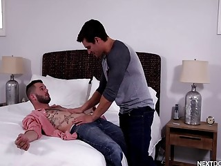 Jordon Boss has gay anal with Johnny Hill