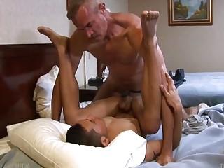 Son Matias takes gay daddies cock raw