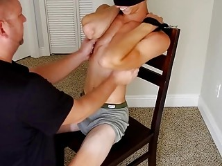 Gay boy is tied up and tickled until he cries in fetish video