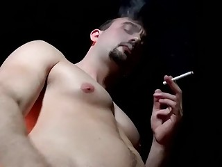 Mason Lear smoking and masturbation solo
