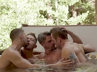 Hot tub group sex for gays