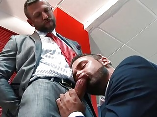 Office sex with Logan Moore and Brazen Bulrog
