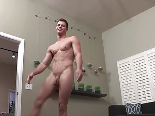 Bareback cock bouncing with Dusty and Dean