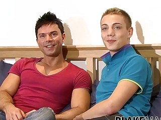Ass stuffing for UK twink amateur pair