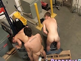 Dominant twink cums in two young mouths