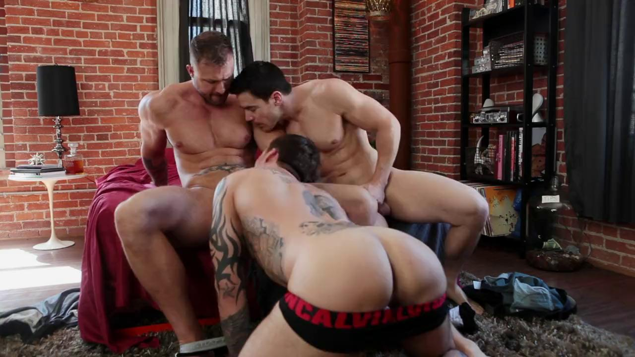 Austin Wolf Straight Porn hardcore gay threesome with chris rockway, austin wolf and